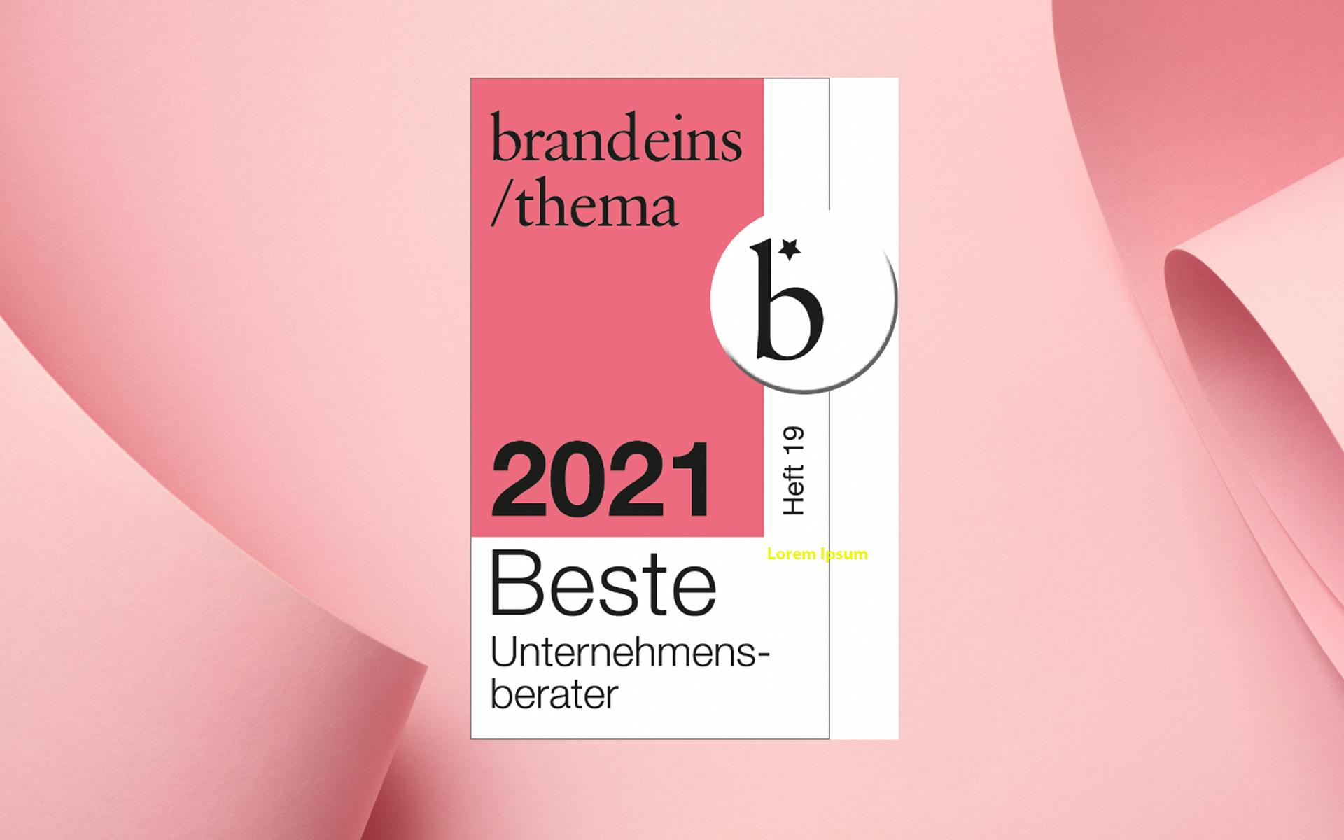 """Featured image for """"Beste Berater 2021 – EAC wurde erneut von brand eins und Statista nominiert"""""""